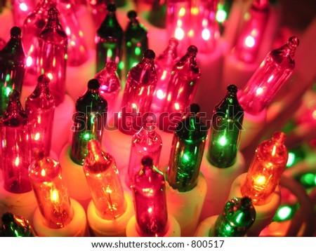 Holiday tree lights.
