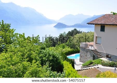Holiday villa overlooks Lake Como, Italy
