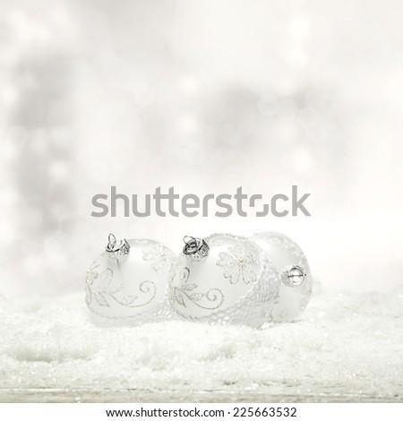 holiday winter decoration of balls