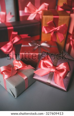 Holidays Christmas, birthday, Valentine\'s Day. Gifts for holiday.