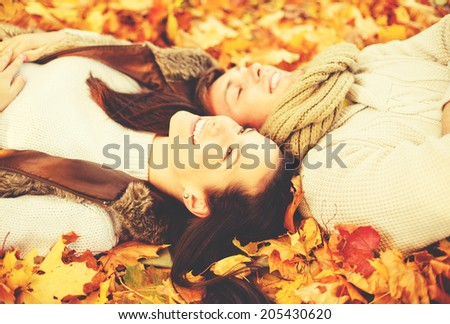 holidays love travel tourism relationship and dating concept romantic couple in the autumn park