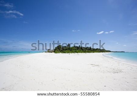 Holidays on a maldivian island - stock photo