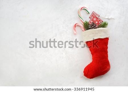 holidays symbol stocking. red...