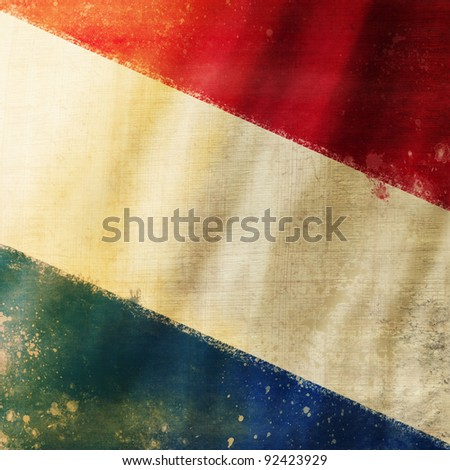 Holland flag ,grunge and retro flag series