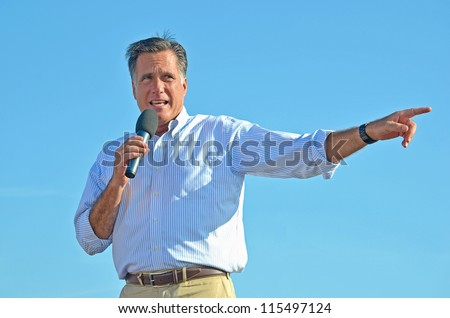 HOLLAND, MICHIGAN - JUNE 19: Mitt Romney campaign rally at Holland State Park, June 19, 2012 in Holland, Michigan