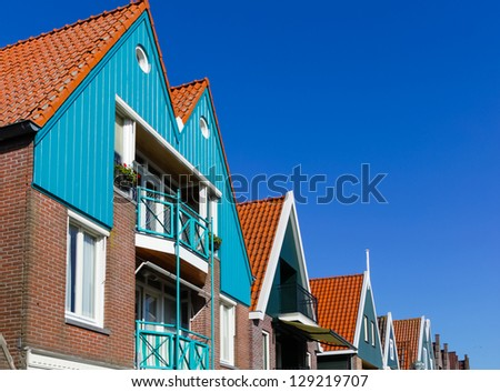 Holland, Volendam town, old stone houses