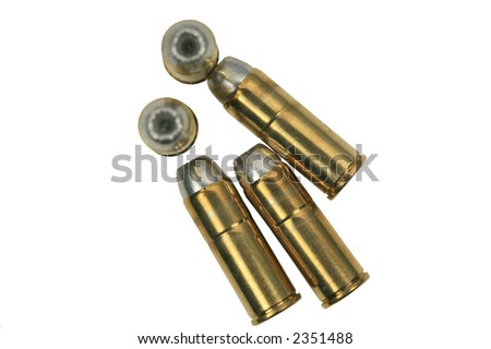 Hollow point .45 caliber bullets