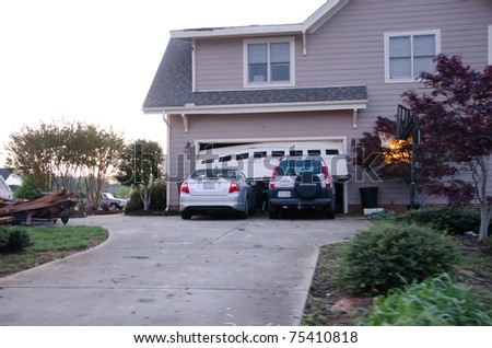 HOLLY SPRINGS, NC, USA - APRIL 16: A tornado causes severe damage to homes in the town of Holly Springs and surrounding area on April 16, 2010 in Holly Springs, NC, USA