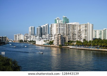 Hollywood Beach Skyline in Florida