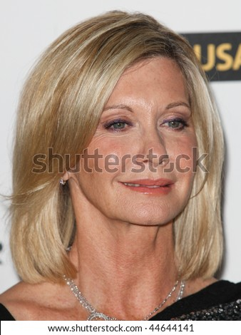HOLLYWOOD, CA. - JANUARY 16: Olivia Newton-John attends the G'Day USA black tie gala on January 16, 2010 at Hollywood and Highland Grand Ballroom in Hollywood.