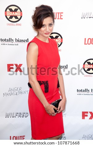 HOLLYWOOD, CA - JUNE 26: Noureen DeWulf  arrives at FX Summer Comedies party at Lure on June 26, 2012 in Hollywood, California.