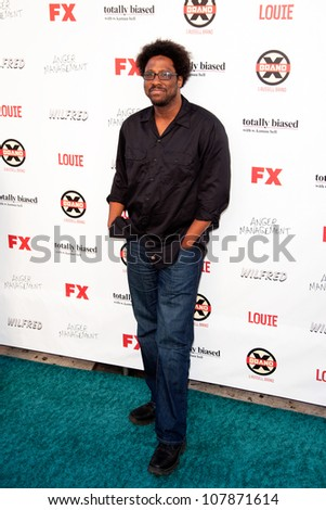 HOLLYWOOD, CA - JUNE 26: W. Kamau Bell arrives at FX Summer Comedies party at Lure on June 26, 2012 in Hollywood, California.