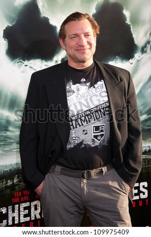 HOLLYWOOD, CA - MAY 23: Dimitri Diatchenko arrives at the Special Fan Screening of Chernobyl Diaries at the Cinerama Dome on May 23, 2012 in Hollywood, California.