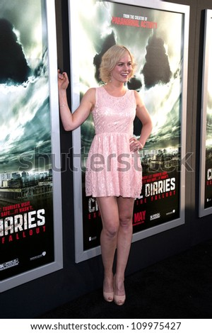HOLLYWOOD, CA - MAY 23: Ingrid Bolso Berdal arrives at the Special Fan Screening of Chernobyl Diaries at the Cinerama Dome on May 23, 2012 in Hollywood, California.
