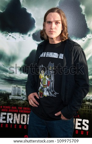 HOLLYWOOD, CA - MAY 23: Jason Mewes arrives at the Special Fan Screening of Chernobyl Diaries at the Cinerama Dome on May 23, 2012 in Hollywood, California.
