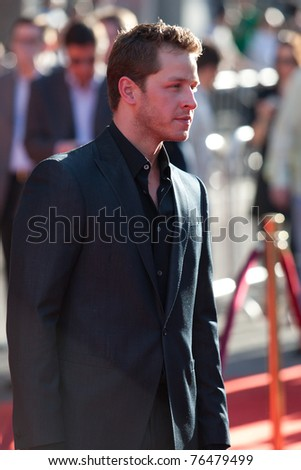 HOLLYWOOD, CA. - MAY 2: Josh Dallas arrives at the Los Angeles premiere of Thor at the El Capitan Theatre on May 2, 2011 in Hollywood, California.