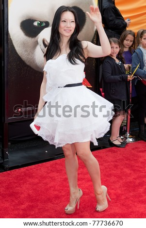 HOLLYWOOD, CA. - MAY 22: Lucy Liu arrives at the Los Angeles premiere of Kung Fu Panda 2 at Grauman's Chinese Theatre on May 22, 2011 in Hollywood, California.