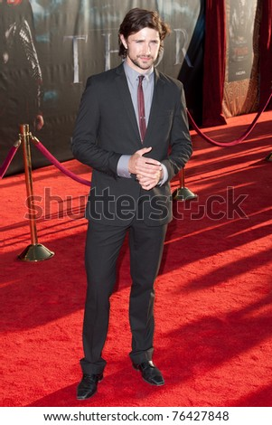 HOLLYWOOD, CA. - MAY 2: Matt Dallas arrives at the Los Angeles premiere of Thor at the El Capitan Theatre on May 2, 2011 in Hollywood, California.