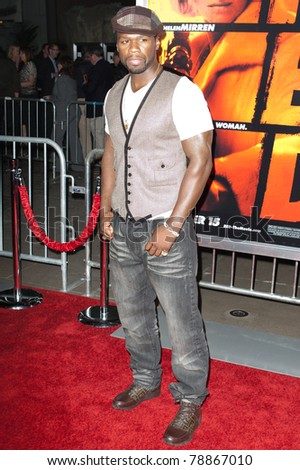 HOLLYWOOD, CA. - OCT 11: 50 cent arrives at the Los Angeles special screening of Red at Grauman's Chinese Theatre on Oct. 11, 2010 in Hollywood, California.