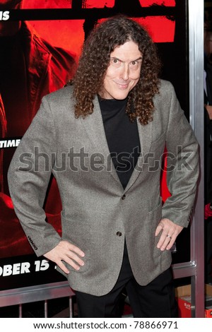 HOLLYWOOD, CA. - OCT 11: Weird Al Yankovic arrives at the Los Angeles special screening of Red at Grauman's Chinese Theatre on Oct. 11, 2010 in Hollywood, California. - stock photo