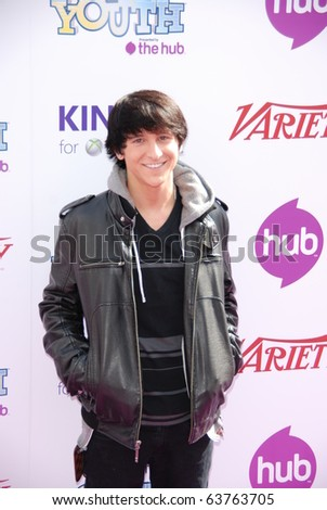 HOLLYWOOD, CA - OCTOBER 24: Actor/singer Mitchel Musso arrives at Variety's 4th Annual Power of Youth event at Paramount Studios on October 24, 2010 in Hollywood, California.