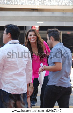 HOLLYWOOD, CA- OCTOBER 2: Actress/model Ali Landry (C) arrives at Walt Disney Studios Beauty and The Beast Sing-Along at the El Capitan Theatre on October 2, 2010 in Hollywood, California.