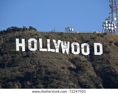 HOLLYWOOD, CALIFORNIA - February 27:  Hugh Hefner donates money to the Hollywood sign trust to protect 138 acres behind the sign from development, on February 27, 2011 in Los Angeles, California.