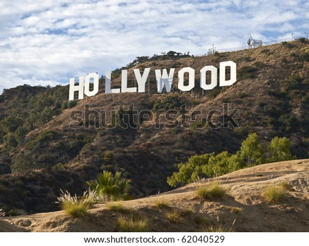 HOLLYWOOD CALIFORNIA - SEPTEMBER 29: Hugh Hefner donates money to the Hollywood sign trust to save 138 acres behind the sign from development, on September 29, 2010 in Los Angeles, California.