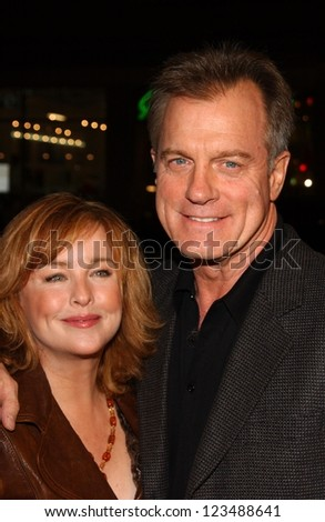 """HOLLYWOOD - DECEMBER 06: Faye Grant and Stephen Collins at the premiere of """"Blood Diamond"""" Grauman's Chinese Theatre December 06, 2006 Hollywood, CA."""