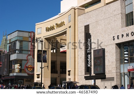 HOLLYWOOD - FEBRUARY 10: Entrance to the Kodak Theatre. On March 7 the Kodak Theatre will host the 82nd Academy Awards, on February 10, 2010 in Hollywood, California.