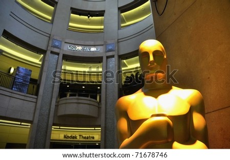 HOLLYWOOD - FEBRUARY 21: Preparations begin for the 83rd annual Academy Awards to be held on Sunday February 27. February 21, 2011, Hollywood California.
