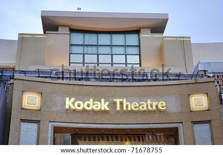 HOLLYWOOD - FEBRUARY 21: Preparations begin for the 83rd annual Academy Awards to be held on Sunday February 27 at the Kodak Theatre. February 21, 2011, Hollywood California.