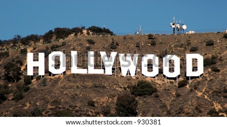 Hollywood hillside sign