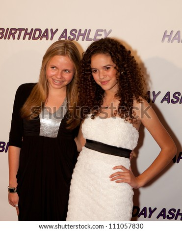 HOLLYWOOD - JAN 29:Alli Simpson (L) & Madison Pettis (R)  attends Ashley Argota 18th Birthday at the W Hotel Hollywood, January 29, 2011, in Hollywood, CA