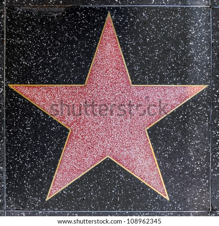 HOLLYWOOD - JUNE 26: empty star on Hollywood Walk of Fame on June 26, 2012 in Hollywood, California. This star is located on Hollywood Blvd. and is one of 2400 celebrity stars.