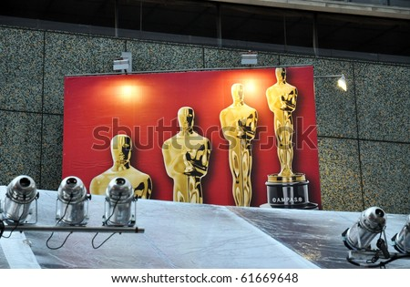 HOLLYWOOD - SEPTEMBER 25: Date announced for the 83rd Annual Academy Awards. The ceremony will take place from the Kodak Theatre Sunday, February 27, 2011. September 25, 2010, Hollywood California.