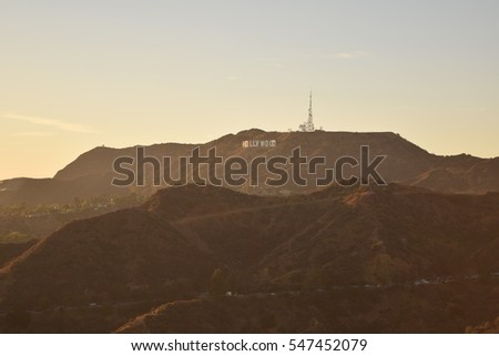 Hollywood sign #547452079