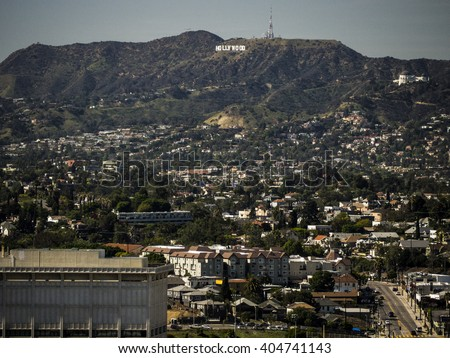 Hollywood Sign from Downtown LA #404741143