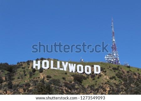 Hollywood Sign, Los Angeles, California, USA #1273549093
