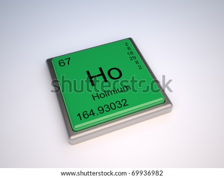 Holmium chemical element of the periodic table with symbol Ho