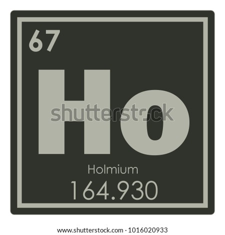 Holmium Chemical Element Periodic Table Science Symbol Ez Canvas