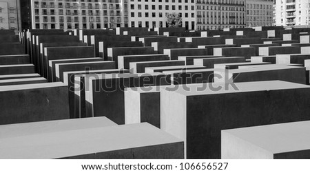 Holocaust memorial sculpture in Berlin, Germany