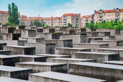 Holocaust monument, Memorial to the Murdered Jews of Europe in Berlin, Germany