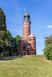 Holtenau Lighthouse in Kiel, Germany