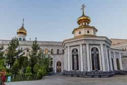 Holy Assumption Cathedral complex in Tashkent, Uzbekistan
