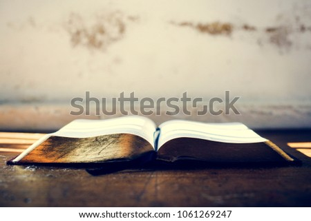 Holy bible book christianity religion believe