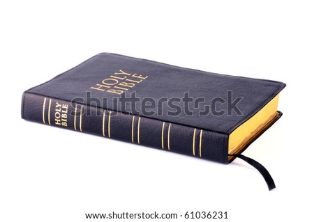 Holy Bible on white background