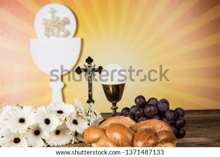 Holy Communion Bread, Wine #1371487133
