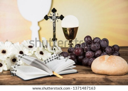 Holy Communion Bread, Wine #1371487163
