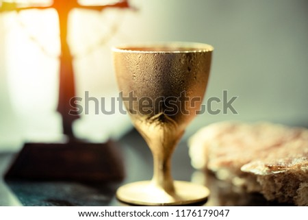 Holy Communion Bread, Wine Images and Stock Photos - Page: 3